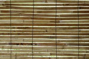 textura de estera de bambú foto