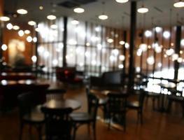 Blurry dark restaurant