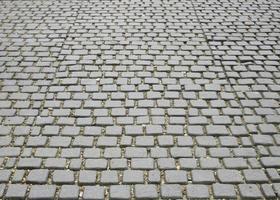 Cobblestone street texture photo