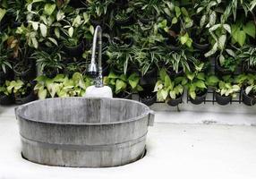 Outdoor wood sink