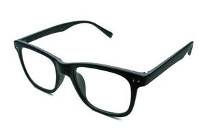 Black framed glasses isolated