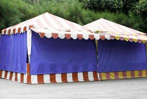 Circus tent outside