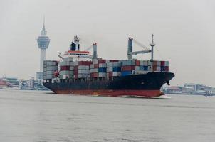 buque de carga de contenedores foto