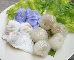 Sago pork dumplings