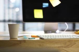 café en el escritorio foto
