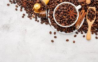 Background of dark roasted coffee beans