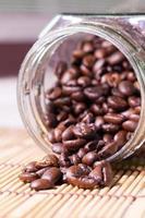 Coffee beans in a jar