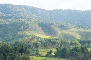 Hills and farmland in Thailand