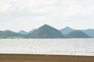 Mountains at the sea photo