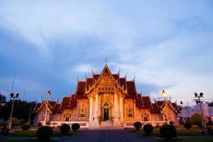 Marble temple in Bangkok photo