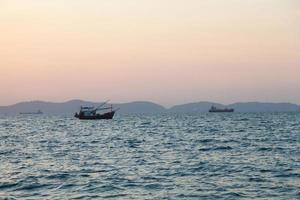 Fishing boat on the sea in Thailand photo