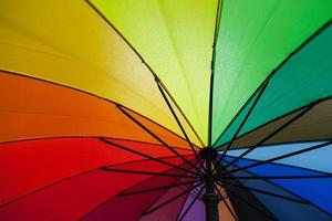 colores del paraguas foto