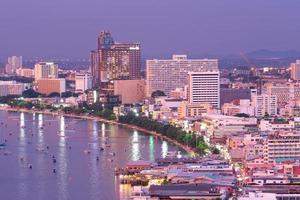 Pattaya city in evening