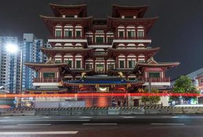 Templo y museo de la reliquia del diente de Buda en Singapur. foto