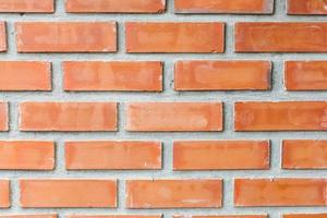 primer plano de la pared de ladrillo rojo