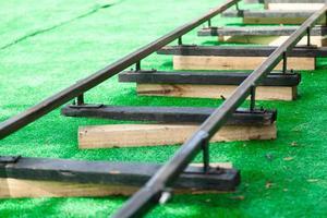 vías del tren de juguete
