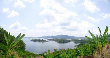 Panorama view of the lake photo