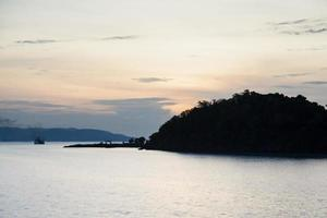 Island in Thailand in the morning photo