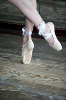 Close-up of ballet shoes photo