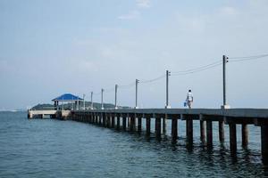 muelle en tailandia foto