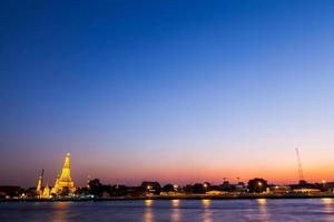 Wat Arun in Bangkok in the evening photo