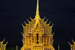 Castle carved from wax in Thailand