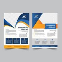 corporate flyer template design vector
