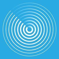 icono abstracto de radar vector