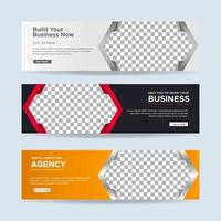 Vector abstract design banner web template. collection of horizontal business ad banner. vector illustration