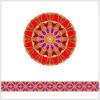 textura geométrica redonda de patrones sin fisuras vector