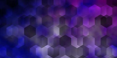 Fondo de vector rosa claro, azul con hexágonos.