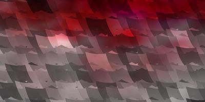 plantilla de vector rosa claro, rojo en estilo hexagonal.