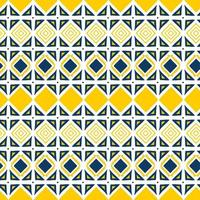 Triangle geometric seamless pattern. Hand drawn tribal ornament. vector