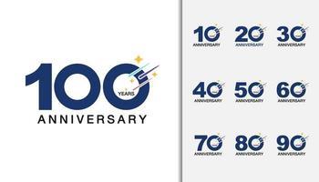 Set of anniversary logotype vector