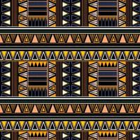 Tribal seamless pattern in african style on black background. vector