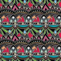 Floral geometric folklore ornament. Tribal ethnic vector texture.