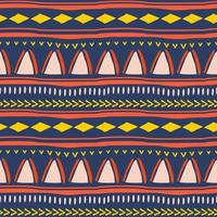 Tribal seamless pattern in African style. vector