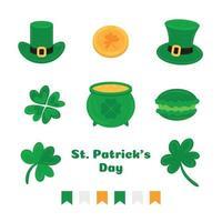 Saint Patrick's day icons vector
