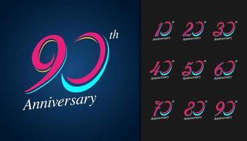 Set of anniversary logotype