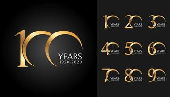 Set of anniversary badges vector