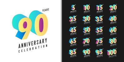 Set of premium anniversary logotype