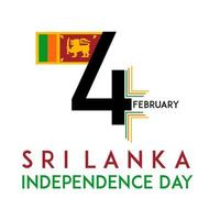 Sri Lanka Independence day on 4 February design