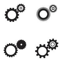 imagen vectorial de logotipo y símbolo de engranaje vector