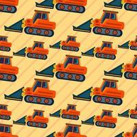 loader industrial vehicle seamless pattern illustration vector