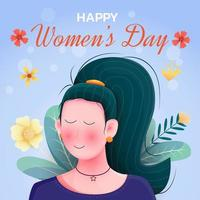 Flat design international women's day illustration