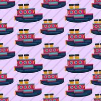 Ilustración de patrones sin fisuras de transporte de cruceros vector