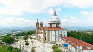 retrocesso aéreo de santuário do sameiro, braga, portugal