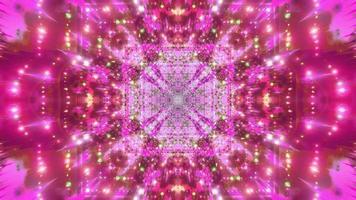 loop vj da galáxia espacial com mudança de cor abstrata video