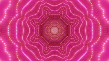 vermelho-verde arte abstrata túnel ilustração 3d vj loop video