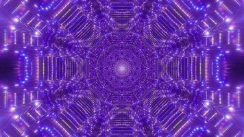 astratto punti luminosi tunnel illustrazione 3d dj loop